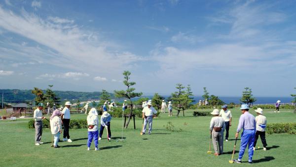 鳥取県湯梨浜町にあるグラウンドゴルフの里「潮風の丘とまり」