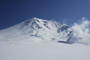 北海道東川町の冬の旭岳