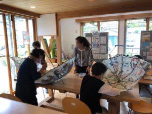 都留市の傘づくり教室