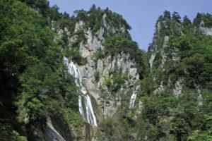 北海道東川町の羽衣の滝